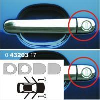 Kryty klik - doplňková sada 4 ks, 2 otvory pro zámek - ušlechtilá ocel, Audi, Seat, VW